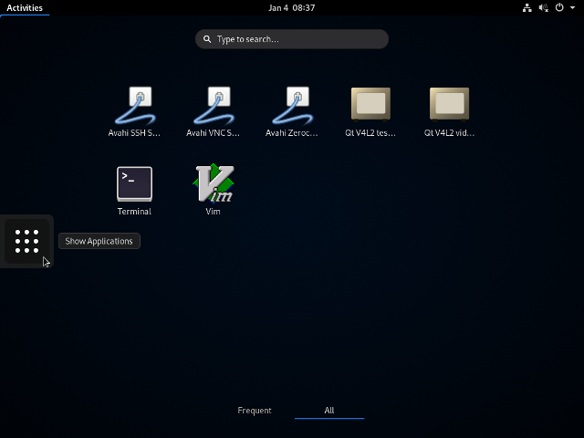 ArchLinux - GNOME - Activities App-Screen